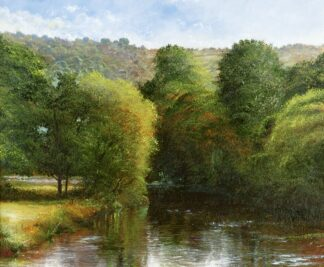 River At Brewardine - Signed Limited Edition Print by Crispin thornton Jones