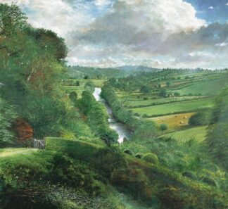 Wye From Weir House - Signed Limited Edition Print by Crispin thornton Jones