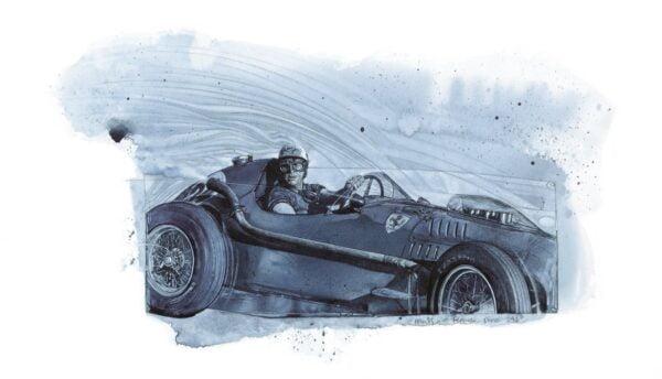 Darrell - Warner Limited Edition Prints - Musso, Ferrari Dino1