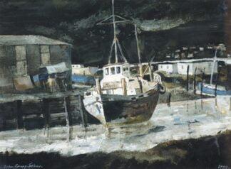 Boatyard Borth - Signed Limited Edition Print By John Knapp-Fisher
