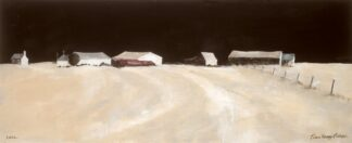 Farm Buildings On The Ridge - Signed Limited Edition Print By John Knapp-Fisher