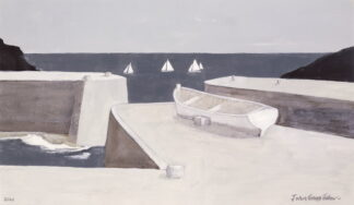 Yachts Off Porthgain - Signed Limited Edition Print By John Knapp-Fisher
