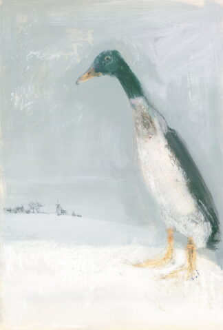 Snow Duck - Signed Limited Edition Print By Madeline Floyd
