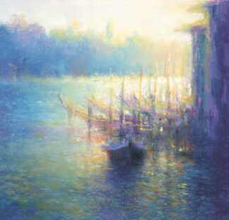 Gondolas - Grand Canal - Signed Limited Edition Print by Norman Smith
