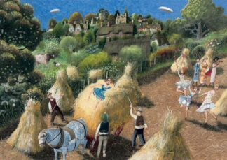 Among The Sheaves - Signed Limited Edition Print By Richard Adams