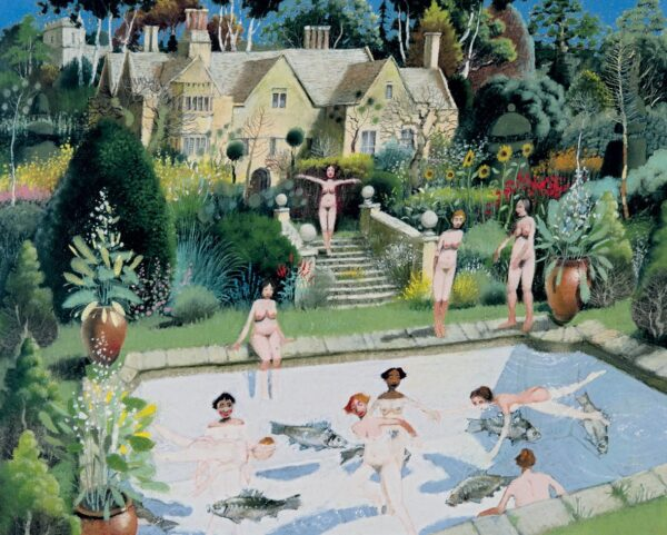 Bathers - Signed Limited Edition Print By Richard Adams