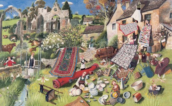 Spring Clean - Signed Limited Edition Print By Richard Adams