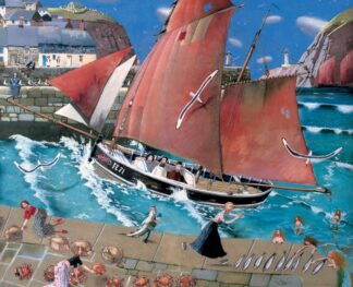 The Cornish Harbour - Signed Limited Edition Print By Richard Adams