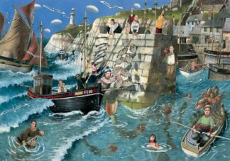 The Harbour Wall - Signed Limited Edition Print By Richard Adams