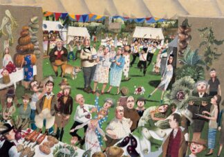 The Vegetable Tent - Signed Limited Edition Print By Richard Adams