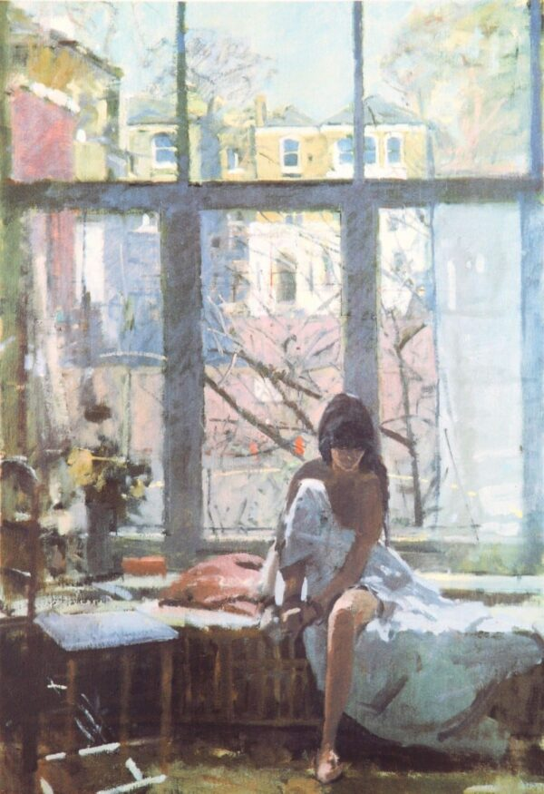 Deborah At The Studio Window - Signed Limited Edition Print By Ken Howard