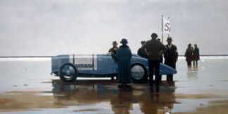 Pendine Beach - Signed Limited Edition By Jack Vettriano - Paper And Mounted - Unframed