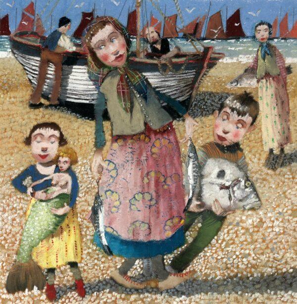 Fishing Folk - Signed Limited Edition Print By Richard Adams