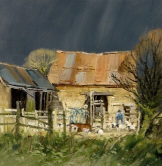 Lambing Storm - Signed Limited Edition By John Lines