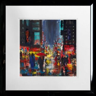 Rainy Manhattan by Carol Mountford Framed