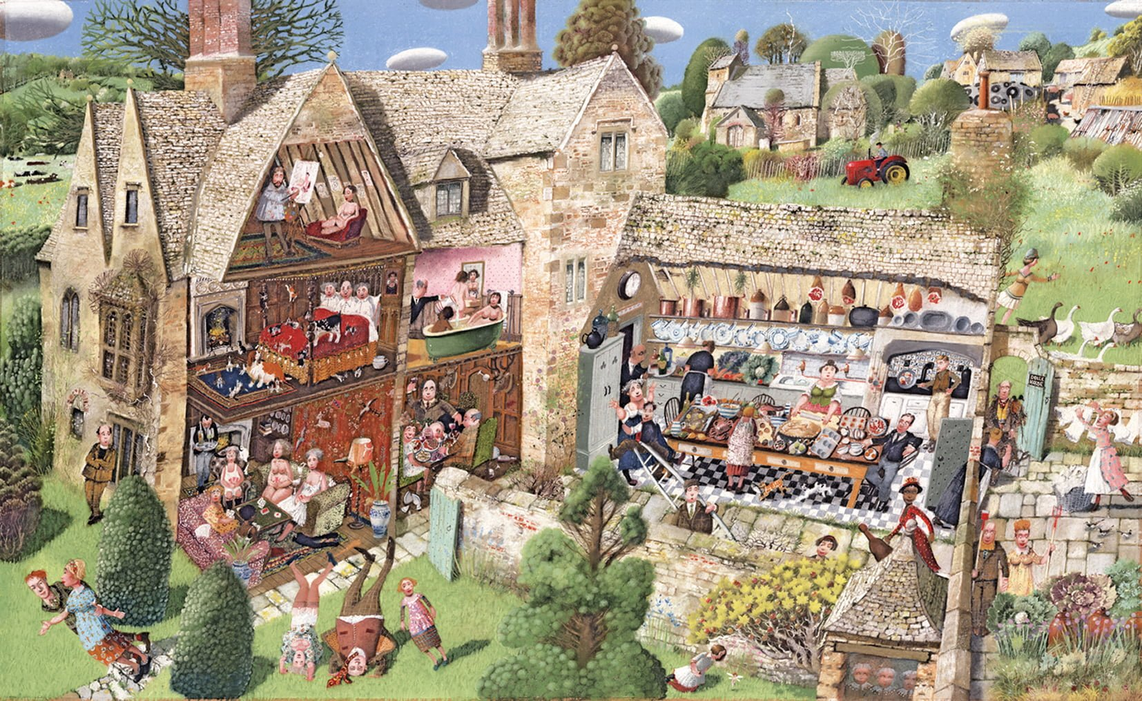 Dolls house - Signed Limited Edition Print By Richard Adams