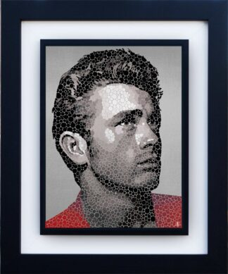 James Dean - The Rebel By Paul Normansell Signed Limited Edition Aluminium Print Framed