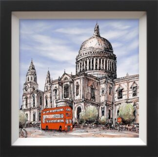 Piccadilly Bound - Signed limited canvas print on board from Phillip Bissell Framed in the artists recommended frame