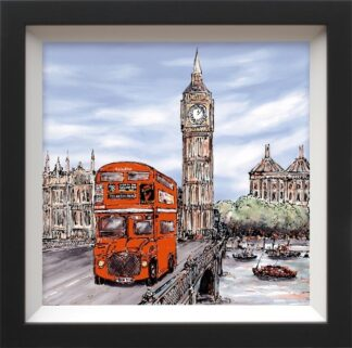 The Lunch Hour - Signed limited canvas print on board from Phillip Bissell Framed in the artists recommended frame