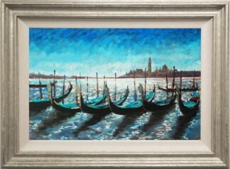 Gondolas at Rest by Timmy Mallett Framed