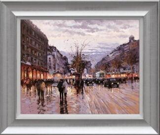 Romance in Paris Framed Cisz