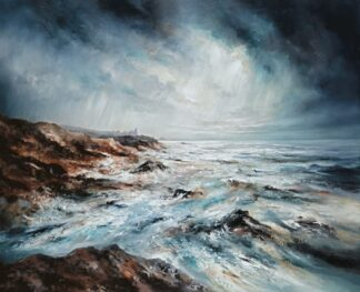 Perfect Storm - Signed Limited Edition Print By chris And Steve Rocks - Hand Embellished Canvas on Board - Unframed
