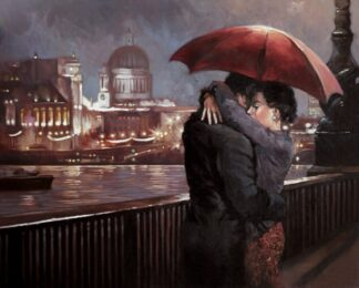 Midnight Embrace - Signed Limited Edition Print By Mark Spain - Canvas on Board- Unframed