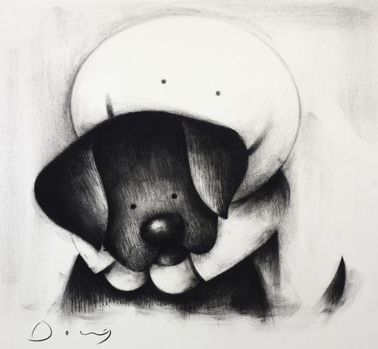 [WIN] HYD - Beware of the Dog II (charcoal) - 16 X 13 - £8,095.00