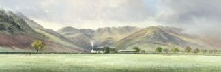 Lake District Farmhouse By Duncan Palmer Signed Limited Edition Paper Print Mounted
