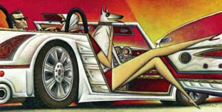 Low Ride By Andrei Protsouk Signed Limited Edition Abstract Canvas Print on Board