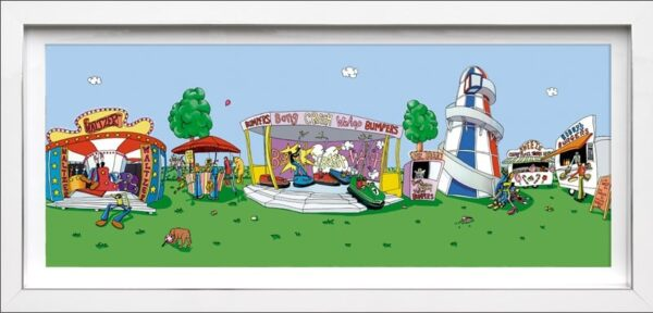 Fair Play Signed Limited edition print by Dylan Izaak Framed in the artists recommended frame