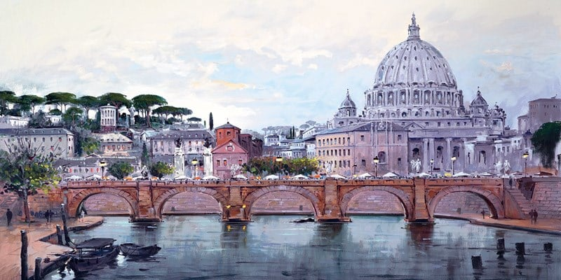 St Peters Rome By Henderson Cisz Signed Limited Edition