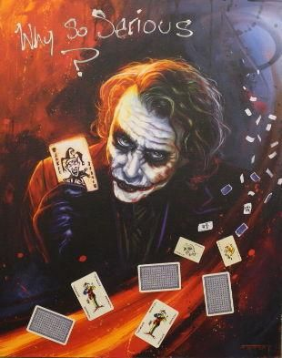 Why so Serious By Ben Jeffery Signed Limited Edition Canvas Print on Board