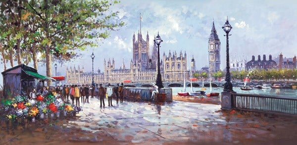 South Bank Flowers By Henderson Cisz Signed Limited Edition