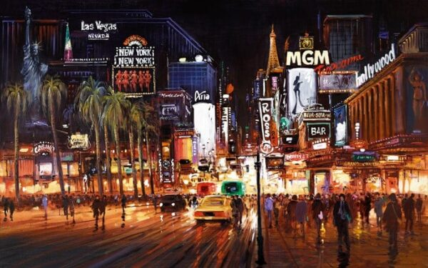Vegas Lights By Henderson Cisz Signed Limited Edition