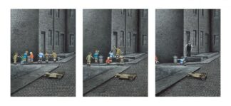 Loitering with Intent - Triptych paper
