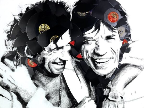 Mick and Keith (Vinyl on Canvas)