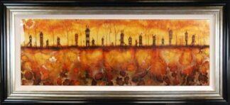 Through the Village - Canvas Framed