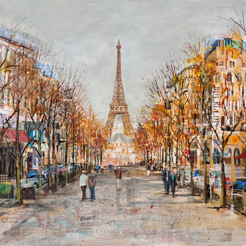 Boulevard Boules - Signed Limited Edition Print from Tom