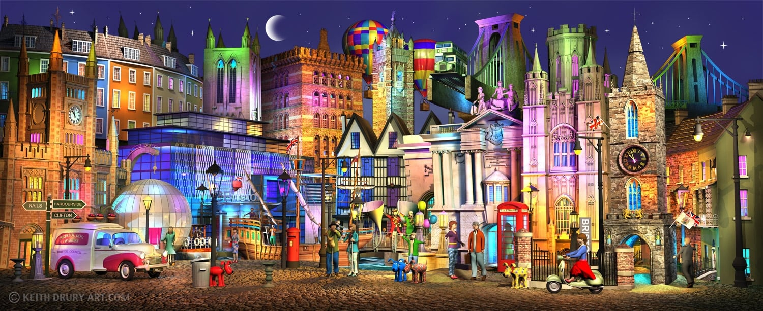 Bristol Way Only 2 Left By Keith Drury Limited Edition