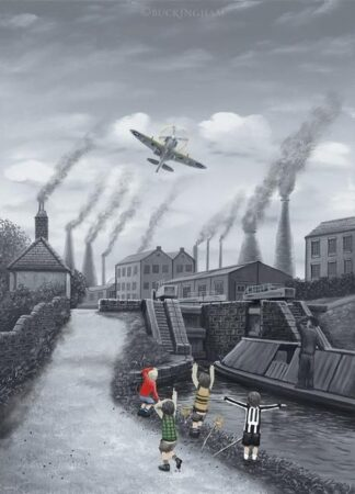Spitfire 12'O'Clock High By Leigh Lambert Signed Limited Edition Mounted Paper Print