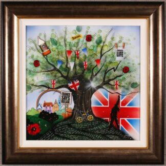 Brit Kids By Kealey Farmer Signed Limited Edition Hand Embellished Canvas Compulsory Framed