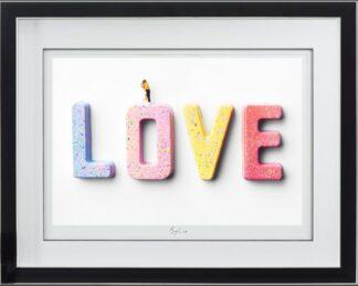 Big Love Dye Sublimination By Mr Kuu Signed Limited Edition Print Framed