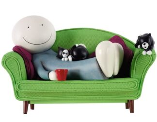 Two Cats Are Better Than One By Doug Hyde Limited Edition Resin Sculpture