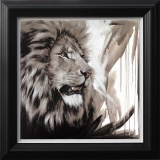 Lion King - Signed Limited Edition Canvas on board print by Jen Allen Framed