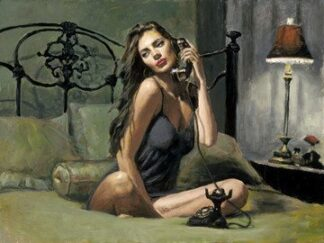 Black Phone II By Fabian Perez Signed Limited Edition Print