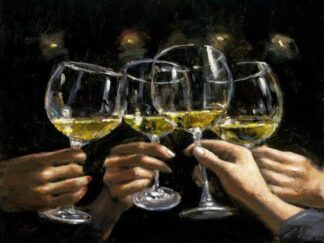 Brindis Con Bianco By Fabian Perez Signed Limited Edition Print