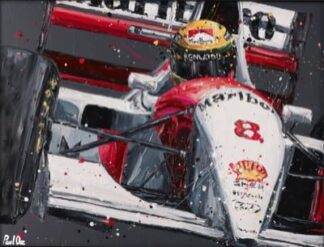 Senna McLaren - Last Race Win By Paul Oz Signed Limited Edition Paper print