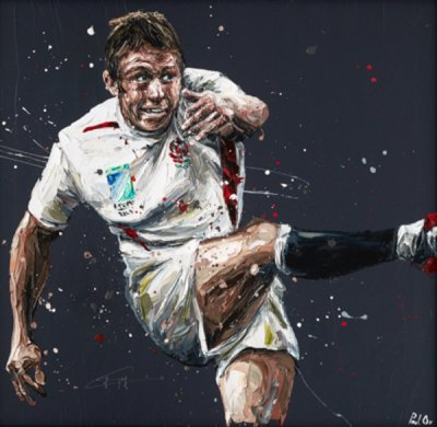Jonny Wilkinson By Paul Oz Signed Limited Edition Paper print