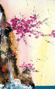 Heavens Kiss II By Danielle O'Connor Akiyama Signed Limited Edition Hand Embellished Canvas Print